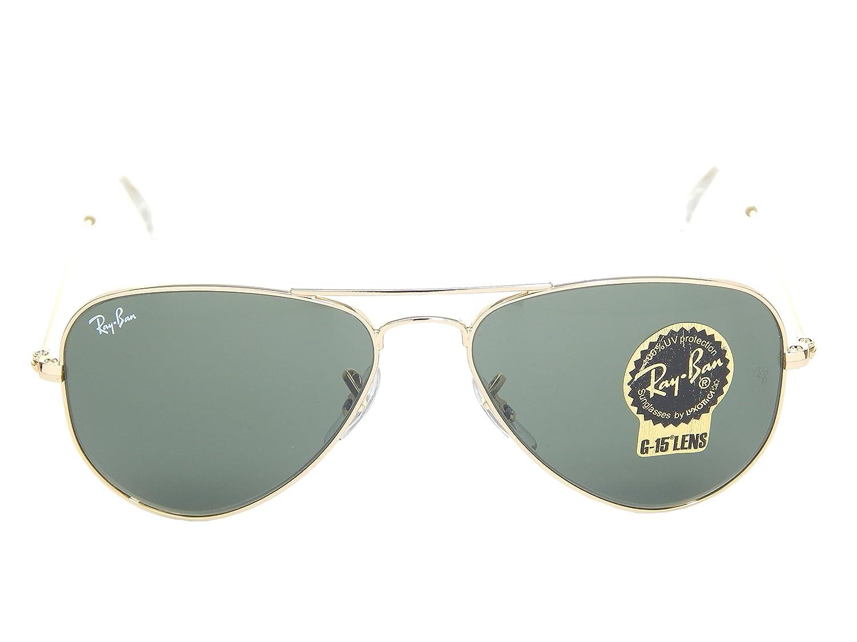 829bbadd2de spain ray ban junior aviator small rb 3044 l0207 65d2b d7192  uk amazon new ray  ban rb3044 l0207 gold green classic g 15 52mm sunglasses clothing 084c2