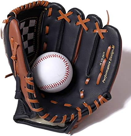"Brown 10.5/"" 11.5/"" 12.5/"" Left Handed Team Sports Youth Baseball Softball Glove"
