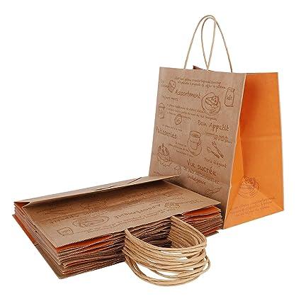 10 bolsas de regalo de papel de estraza de gran capacidad ...