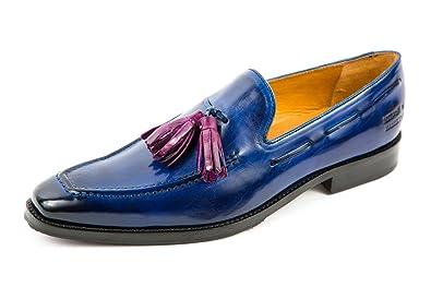 Großhandelsverkauf stylistisches Aussehen beliebt kaufen Melvin & Hamilton Herren Leonardo 1 Loafer Slipper Blau Gr ...