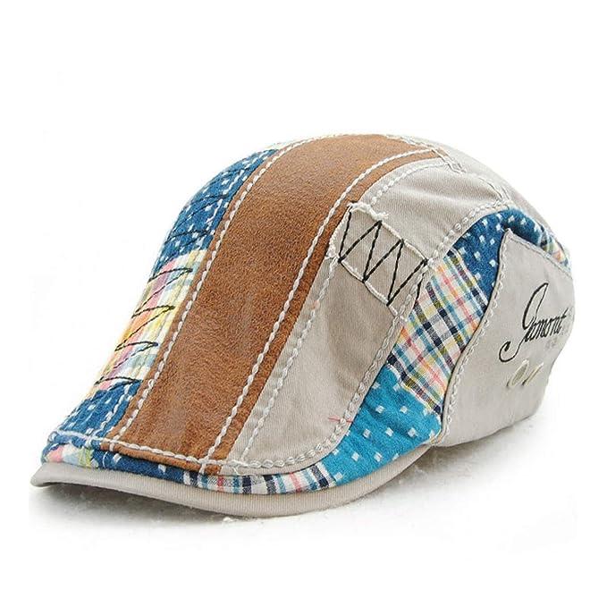 Chibi-store-hat Spring Beret Hats for Men and Women Cotton Berets Retro Caps 4325d8b458b