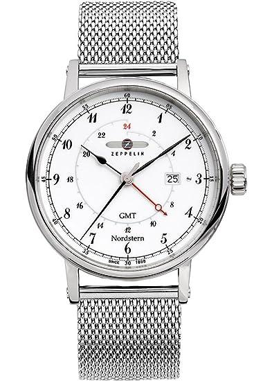 Zeppelin 7546M -1 Norte GMT hombre-reloj con forma de estrella