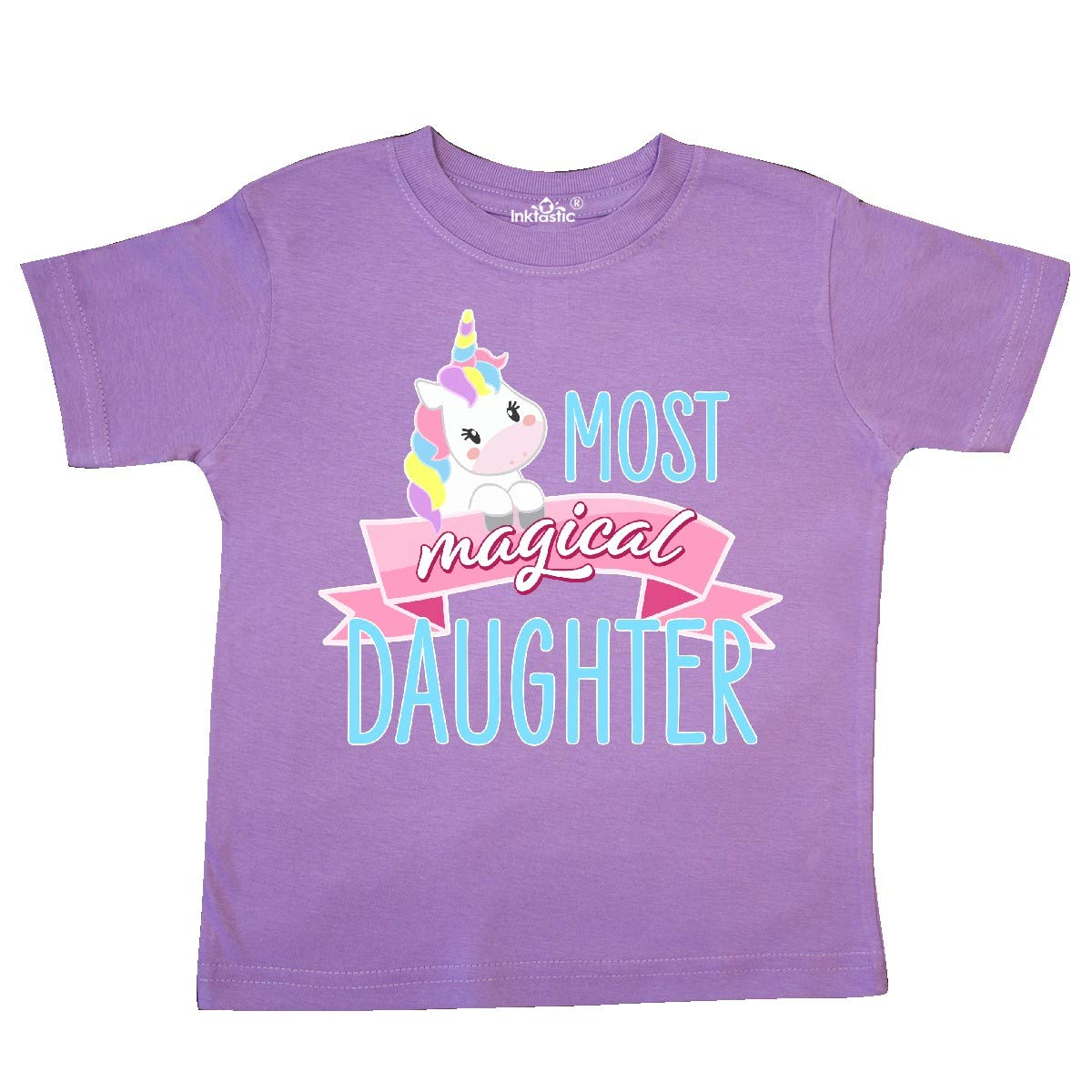 inktastic Most Magical Daughter Cute Unicorn Toddler T-Shirt