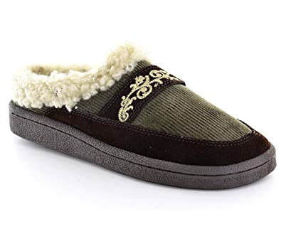 d5c65eb095b0 Image Unavailable. Image not available for. Color  Clarks Womens Scuff  Slippers ...