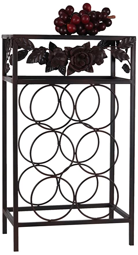 Wilco Imports 6-Bottle Metal Rose Wine Rack 12.5-Inch by 8.5-  sc 1 st  Amazon UK & Wilco Imports 6-Bottle Metal Rose Wine Rack 12.5-Inch by 8.5-Inch ...