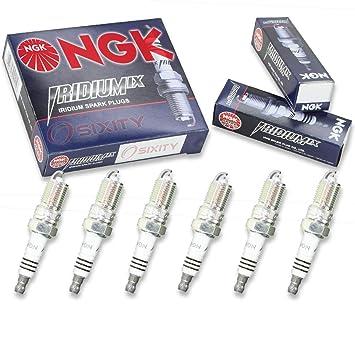 NGK Iridium IX 6pcs Bujías Mazda 6 03 - 08 3.0L V6 Kit Set Tune Up: Amazon.es: Coche y moto
