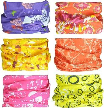 Seamless Face Mask Bandanas for Dust Balaclava Wiwsi 6PCS Head Wrap Mask Sweatband Outdoors 39# Group Sports