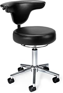 OFM 910-BLACK Anti-Microbial/Bact Anatomy Vinyl Chair, Black
