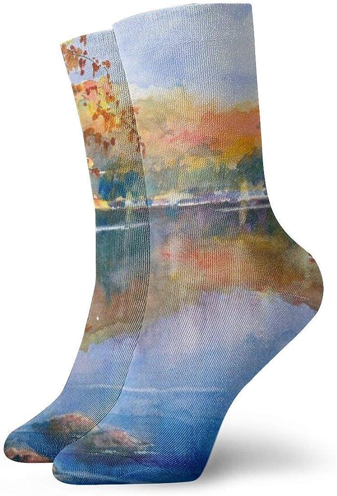 Pack de calcetines de vestir unisex Arte abstracto Pinturas de paisajes Calcetines divertidos de poliéster: Amazon.es: Ropa y accesorios