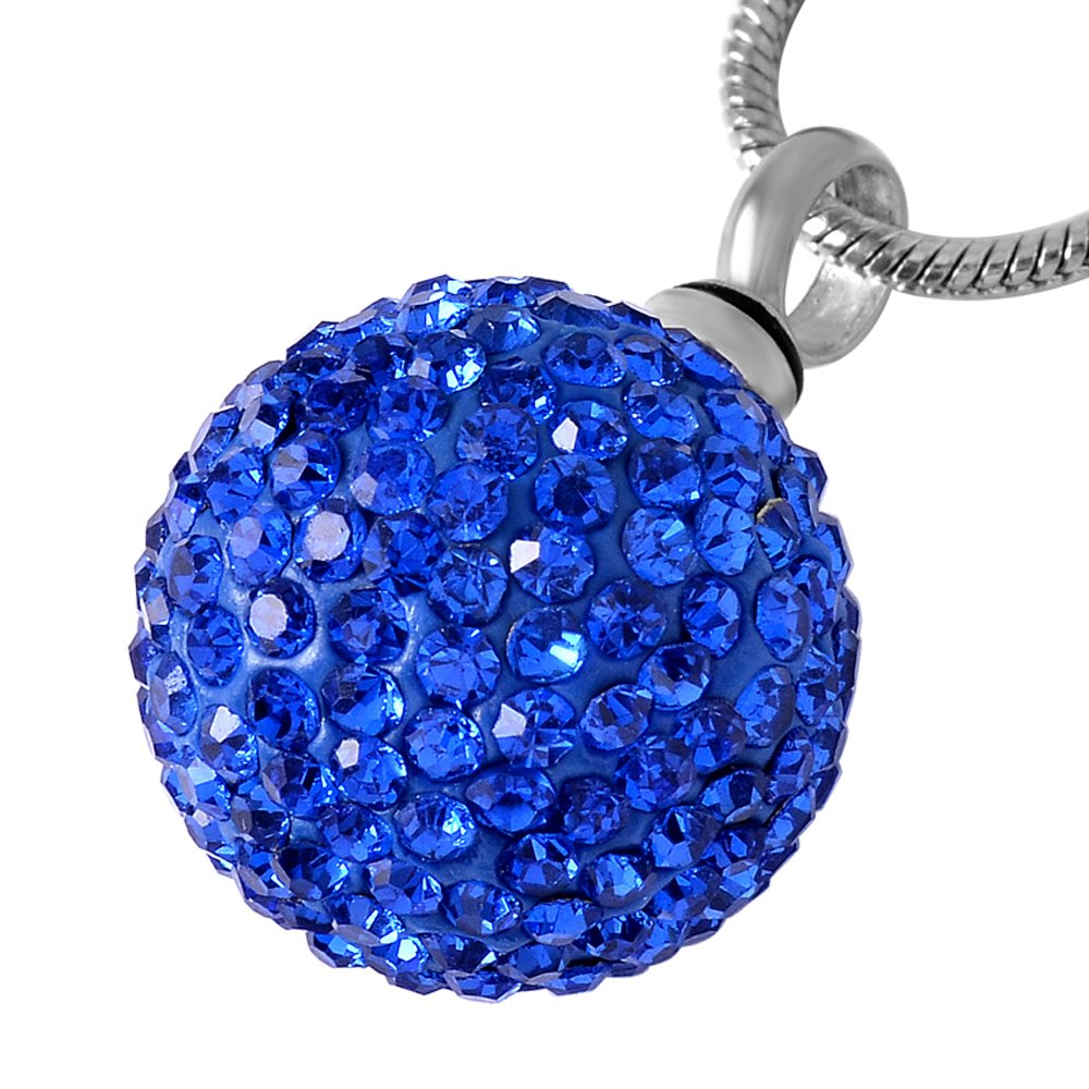 Infinity Crystal Ball Cremation Jewelry for Ashes Pendant Urns Stainless Steel Memorial Necklace for Men Women /& Free Fill Kits