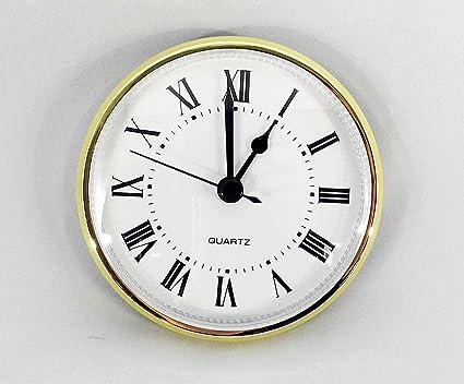 Amazoncom Clock Fitup 3 12 Roman Numerals On White Dial 1 Pack - 3-roman-numerals-clocks