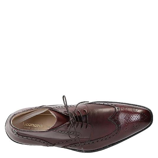 Leonardo Shoes Stivaletti Uomo 107Vitellobordo Pelle Bordeaux  Amazon.it   Scarpe e borse a5977003ac8