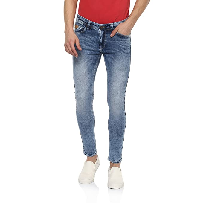 e3dd213be81c0b Spykar Mens Light Blue Super Skinny Fit Low Rise Jeans (29): Amazon.in:  Clothing & Accessories