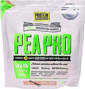 Protein Supplies Australia PeaPro Raw Pea Protein Powder, Vanilla Bean 1 kg,, Vanilla Bean 1 kilograms