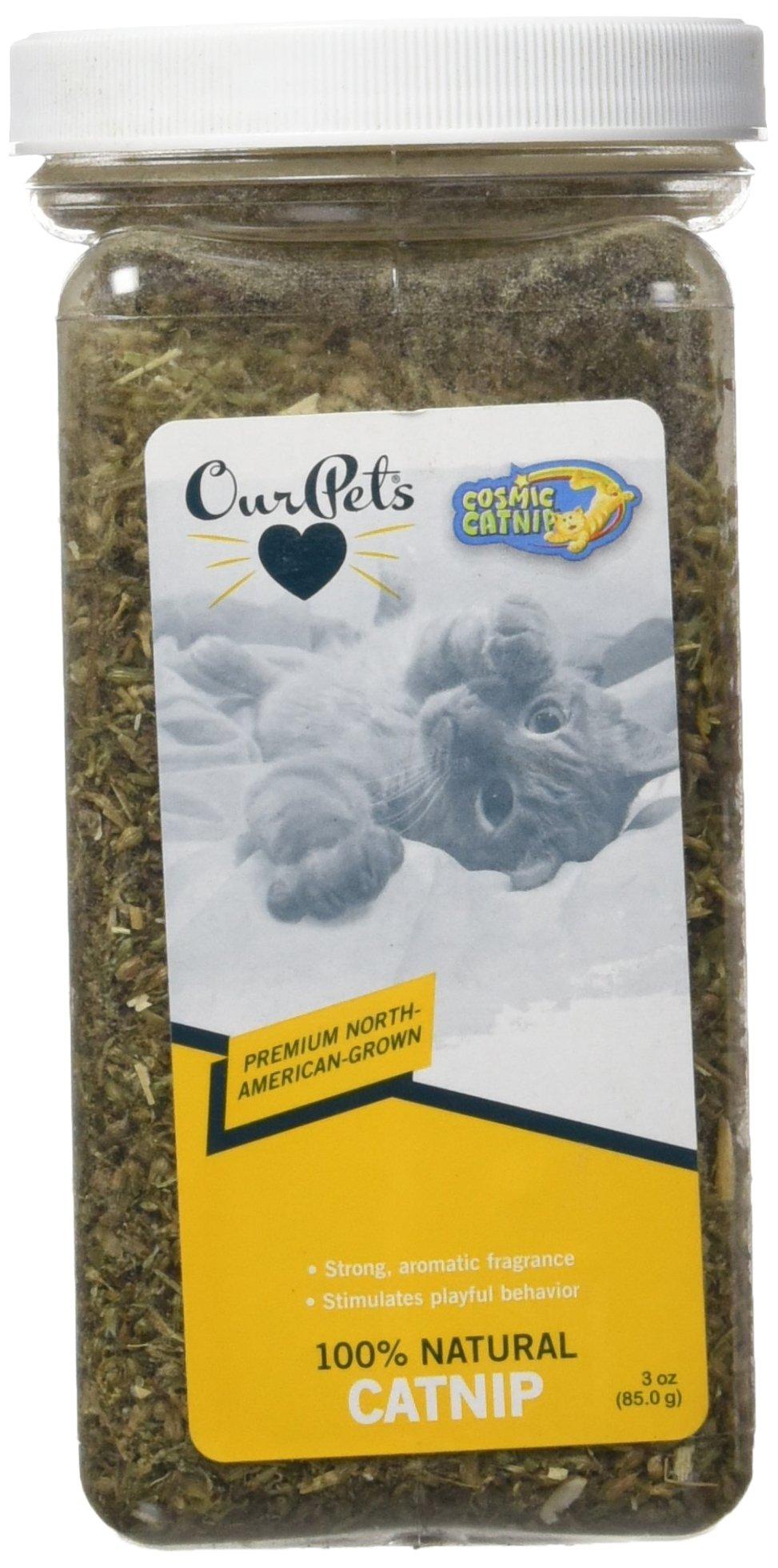 OurPets Premium North-American Grown Catnip Jar, 3-Ounce