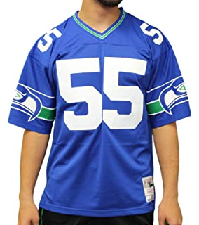 Mitchell   Ness Brian Bosworth Seattle Seahawks Blue Throwback Replica  Jersey 022caa28b
