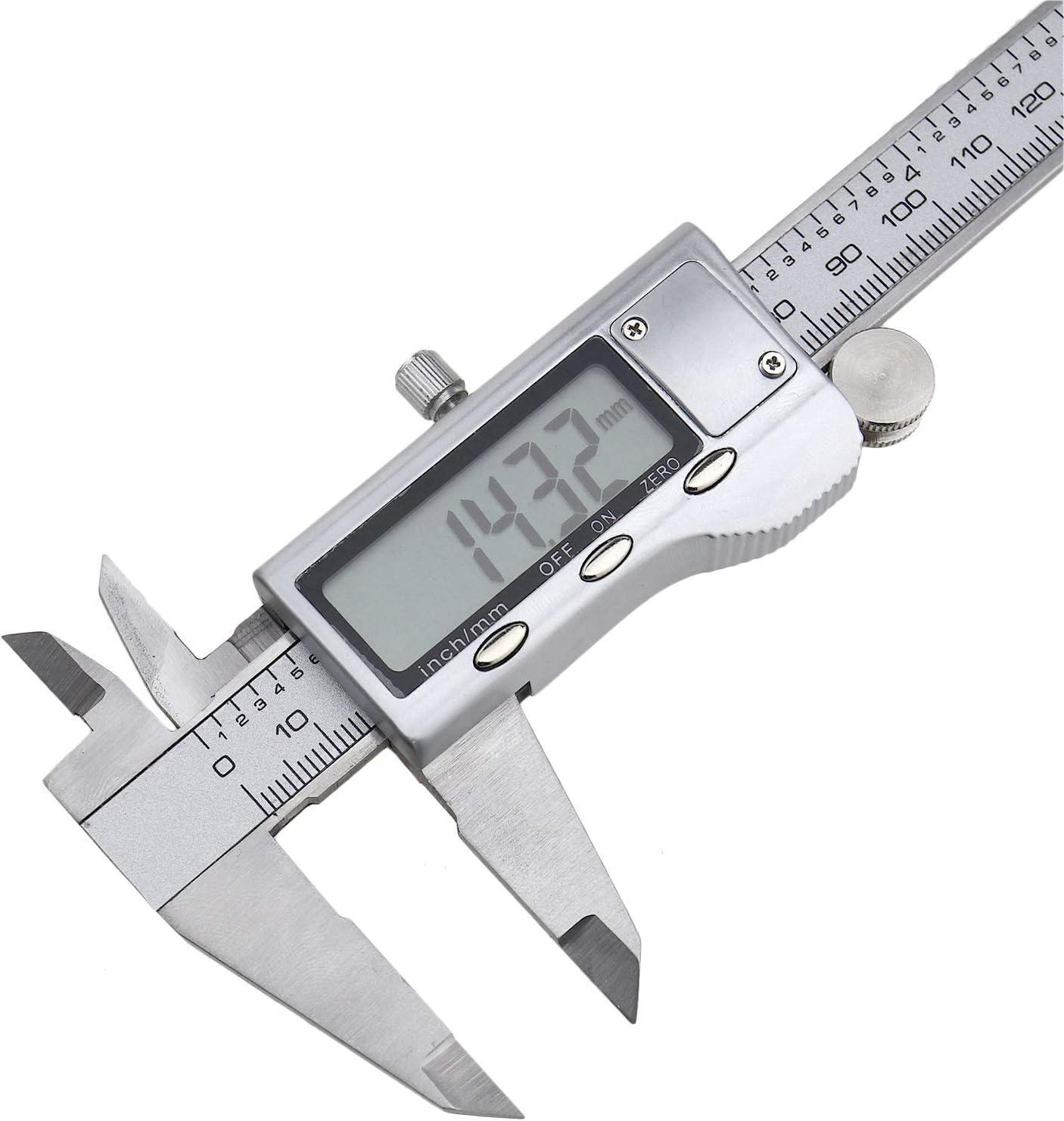 OTOTEC Digital Vernier Caliper Micrometer Stainless Steel Electronic Depth Gauge 150mm//6 Inch Conversion Measuring Tool