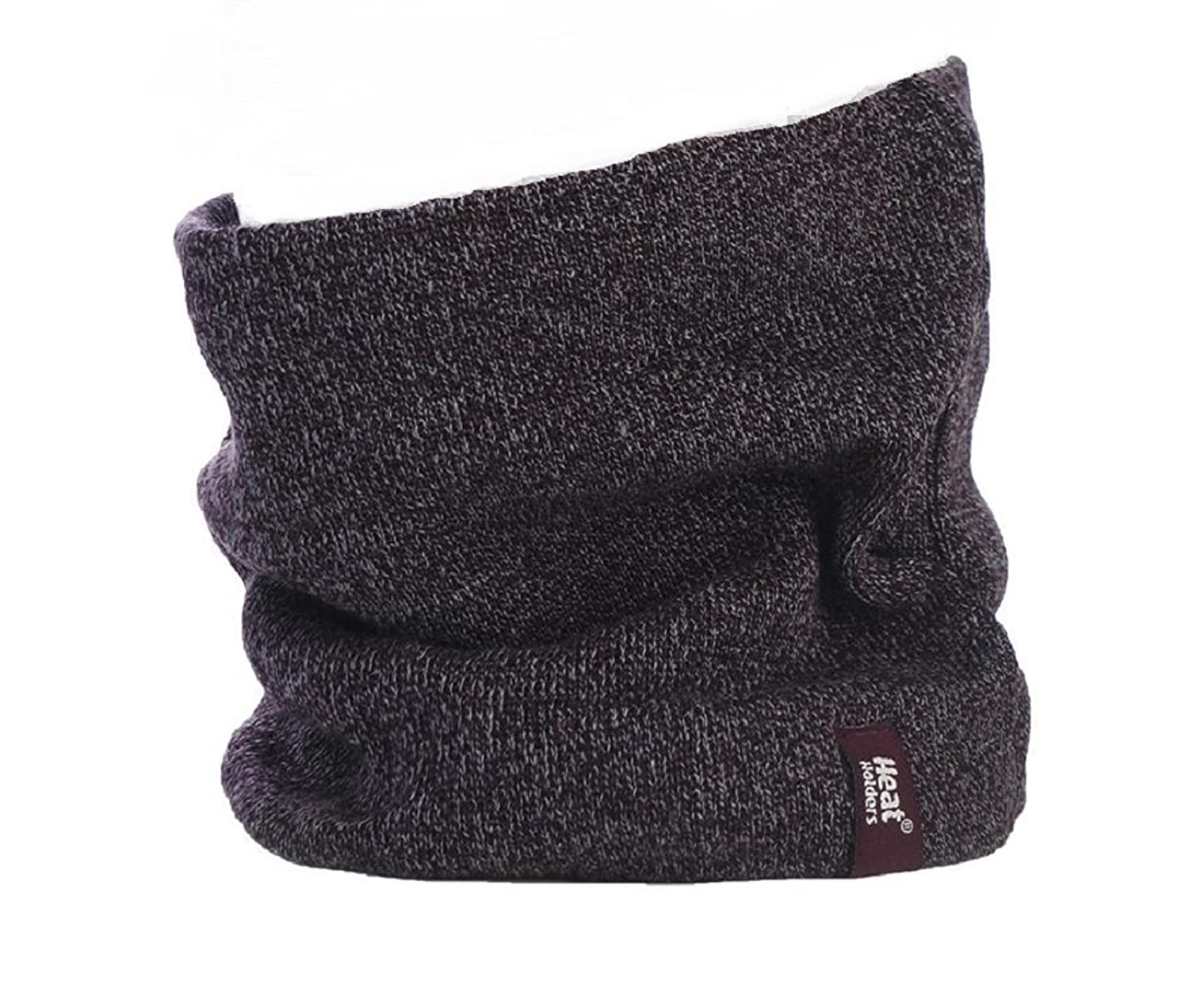 Mens-echte Thermo-Fleece -Winter-warme Hitze Inhaber tog Bewertung von 2,6 - Neck Warmer Rundschal Burgund