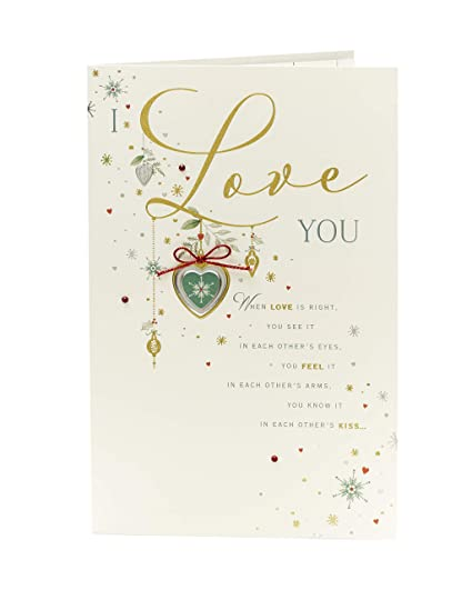 Amazon sentimental one i love christmas card featuring lovely sentimental one i love christmas card featuring lovely verse m4hsunfo