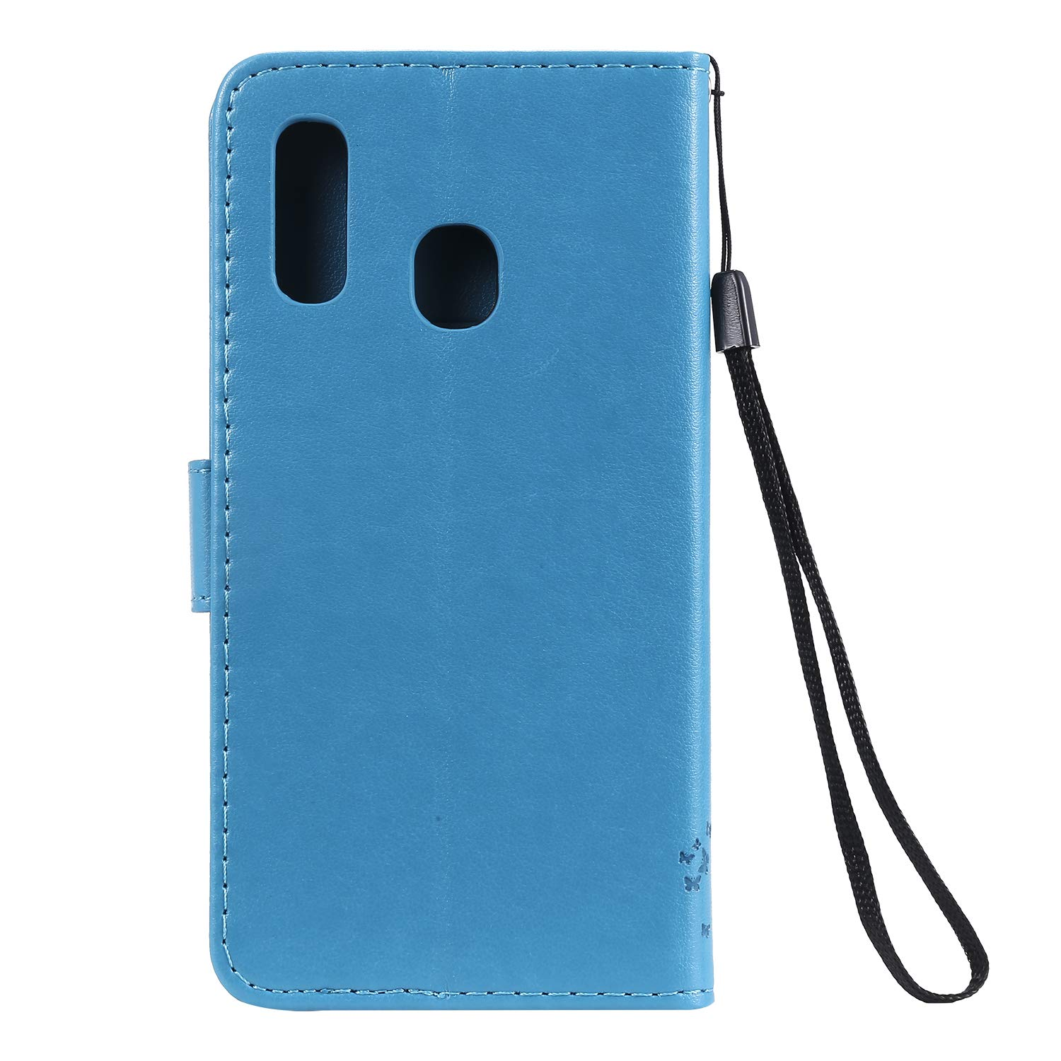 AILRINNI Case for Samsung Galaxy A20e - Premium Leather Flip Wallet Phone Case Cover Design for Samsung Galaxy A20e [Card Slots] [Magnetic Closure] [Kickstand] - Blue