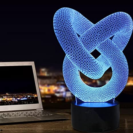 Lights & Lighting The Cheapest Price 2017 New Arrival Creative 3d 7 Colorstouch Switch Design Headset Model Led With Usb Table Lamp Desk Light Room Decoration Modern Techniques