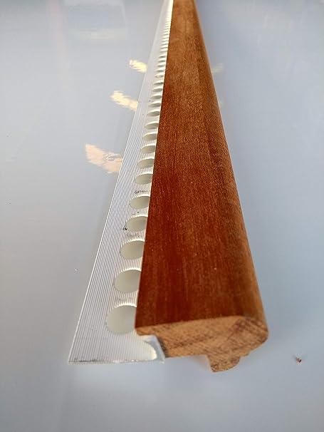 Mamperlán perfil madera Niagón para peldaño y escalera 1,00mt L30: Amazon.es: Bricolaje y herramientas