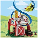 Fisher-Price GeoTrax Rail and Road System Blast-Through Barn with GeoAir Expansion Track