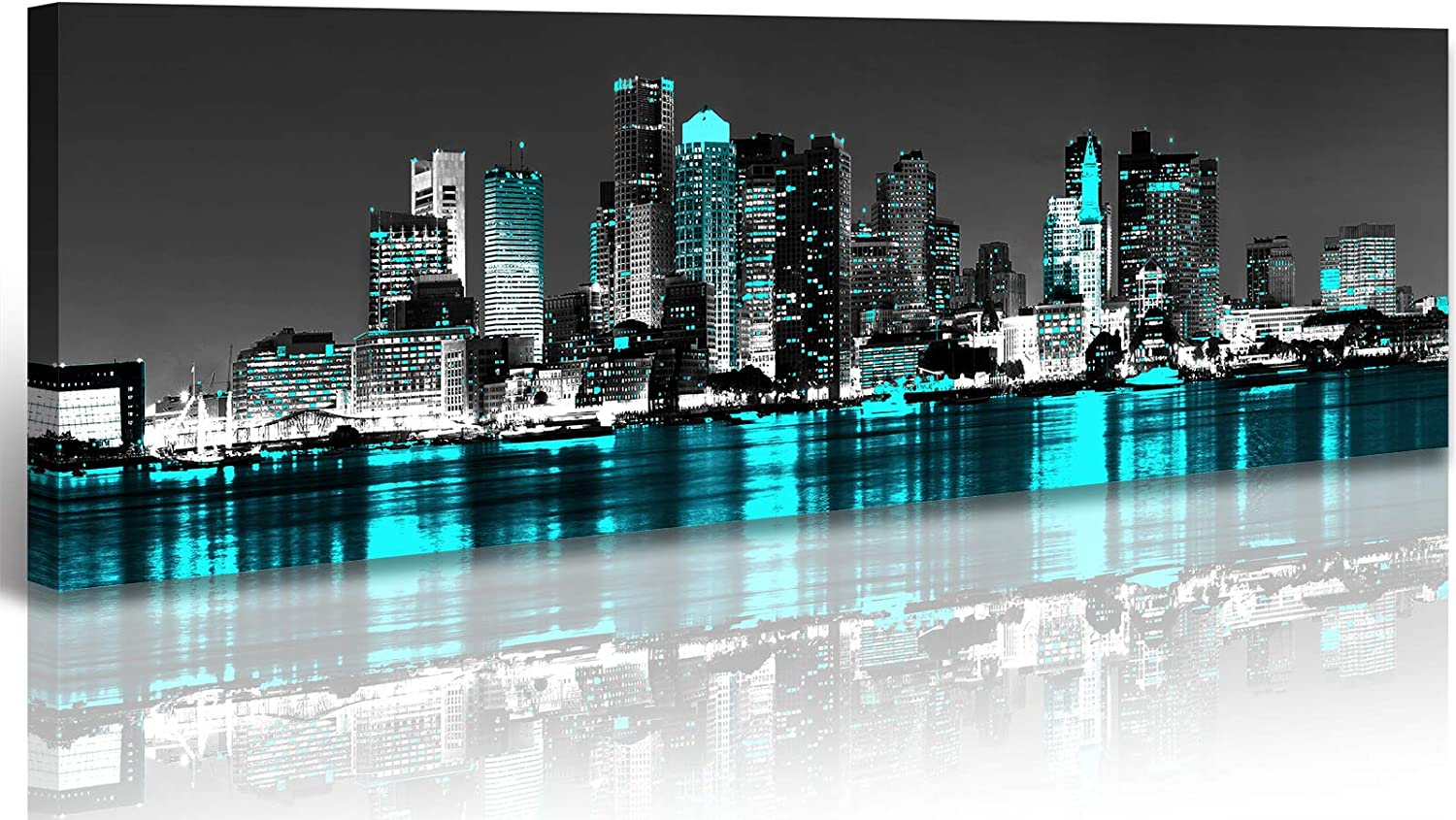 London England Skyline Black /& White Wall Art Home Decor Poster /& Canvas Picture
