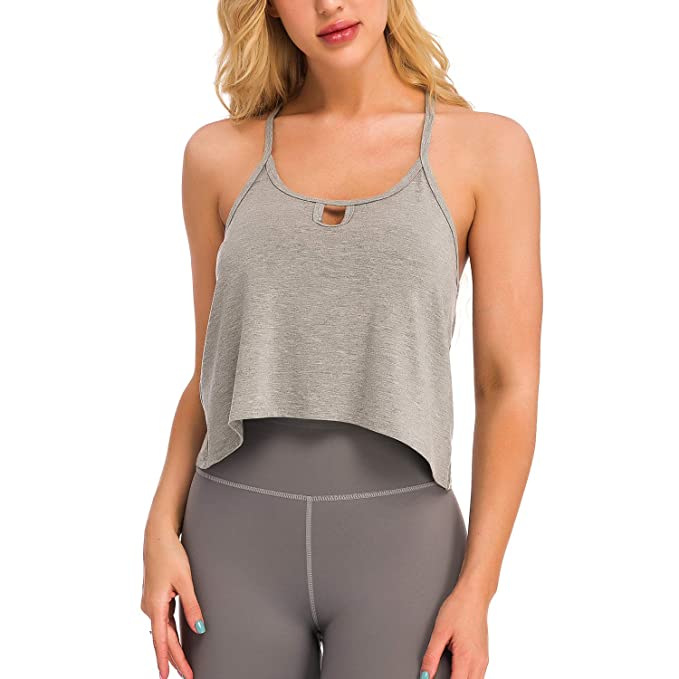ALLEE Workout Crop Tops Yoga Tank Activewear Clothes Cute ...