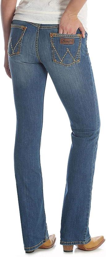 Amazon Com Wrangler Jean Para Mujer Estilo Retro Mae Mid Rise Clothing