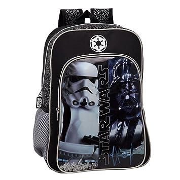 Star Wars 4232351 Mochila Escolar Adaptable a Carro, Color Negro: Amazon.es: Equipaje