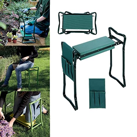 Outstanding Folding Garden Kneeler With One Tool Pouch Bench Seat Eva Kneeling Pad Handles Forskolin Free Trial Chair Design Images Forskolin Free Trialorg