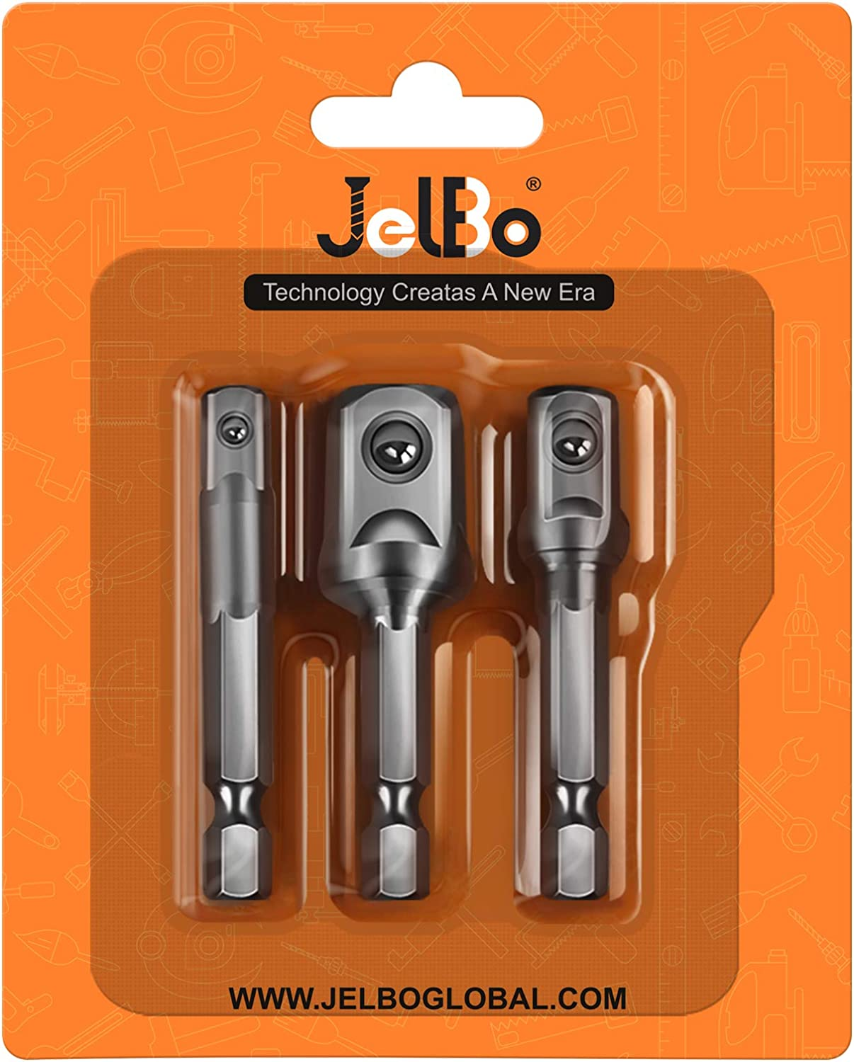 JelBo Flexible Shaft Extension Bits Right Angle Drill Adapter and Impact Driver Socket Adapter Set Quick Connect Adapter of Power Tools Accessories by Electric Dril