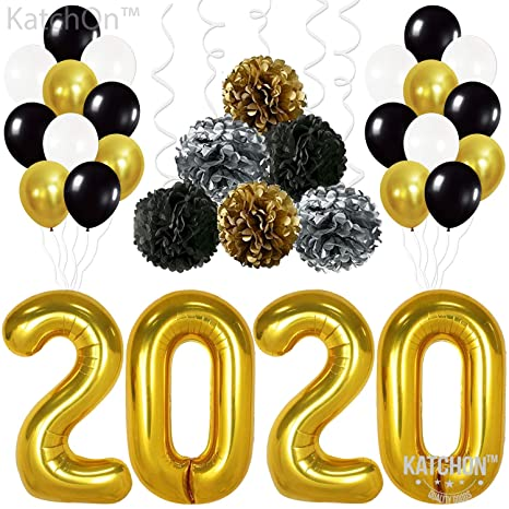 2020 Graduation Party Supplies.2020 Balloons Gold For New Year Large Black Gold And White Balloon Kit New Years Eve Party Supplies 2020 Graduations Party Supplies 2020 New