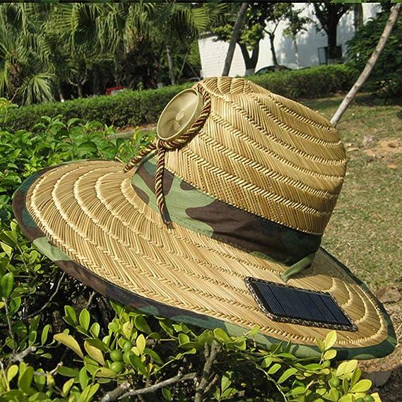 NQFL Tapa De Ventilador Solar Adulto Verano Protección Solar Tapa ...