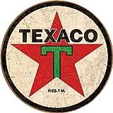 "Desperate Enterprises Texaco '36 Round Tin Sign, 11.75"" Diameter"