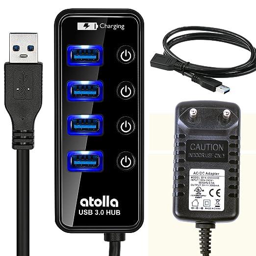 145 opinioni per Atolla Hub USB 3.0 alimentato 4 porte e