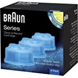 Braun Clean and Renew 3 Pack, Cartridge, Refill, Replacement Cleaner, Cleaning Solution