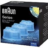 Braun - Pack de 3 recambios de líquido limpiador para el sistema Clean & Renew - CCR3