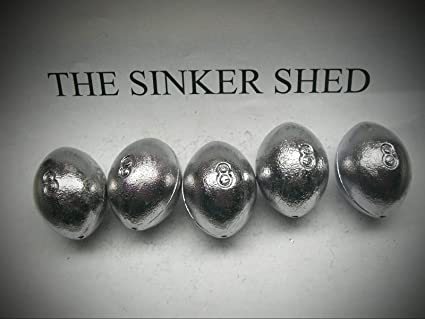 quantity of 2//6//12//25//50//100//250  FREE SHIP fishing weights 6 oz egg sinkers
