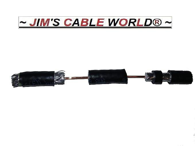 6 (pulgadas) negro Calidad de alta definición digital 75 Ohm Coaxial RG-6 Tri-Shield Cables hecho a mano por Jim Cable del mundo.: Amazon.es: Electrónica