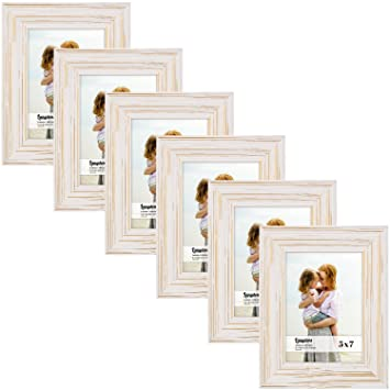Amazon.com - Langdons 5x7 Real Wood Picture Frames (6 Pack ...