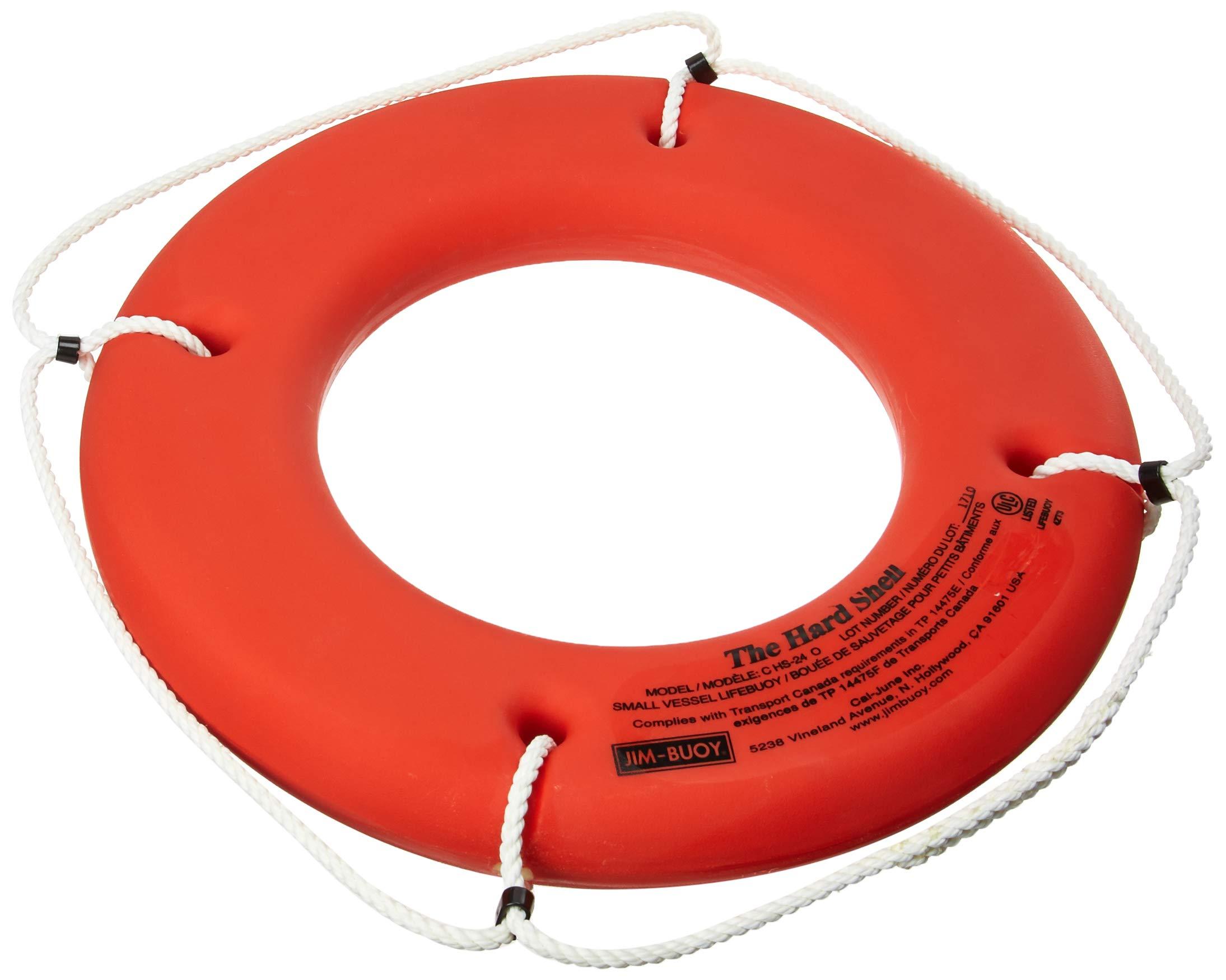 Cal June C-HS-24 O Orange 24'' Hard Shell Lifebuoy (Small Vessel Series)