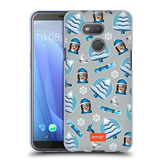 b6f0b6419972 Amazon.com  Official Emoji Skii Winter Patterns Soft Gel Case for HTC  Desire 12s (2018)  Cell Phones   Accessories
