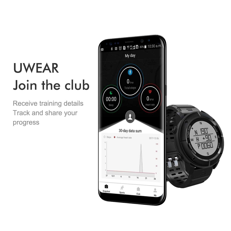 Smartwatches, Hamswan uw80 deportes inteligente reloj GPS ...