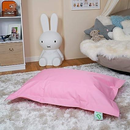 Rivestimento in PVC in- e Outdoor beanbag per Bambini Riempimento con Perline in EPS da 70 Litri Grigio Scuro Bean Bag Cuscini da Terra Green Bean /© BeBi Mini beanbag 100x70 cm