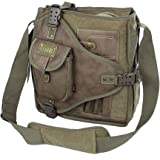 Delle donne degli uomini di alta qualità tela dell'unità di elaborazione del sacchetto di spalla Borse Sincronia file per la Messenger Bag Ufficio abbastanza grande per contenere libri e iPad