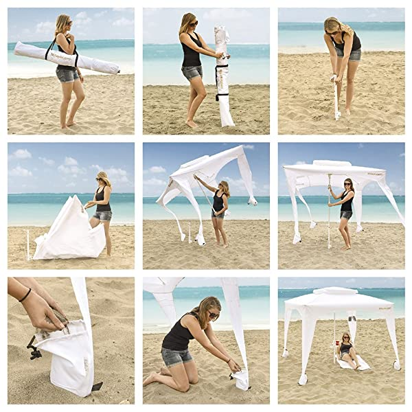 easy beach cabana setup
