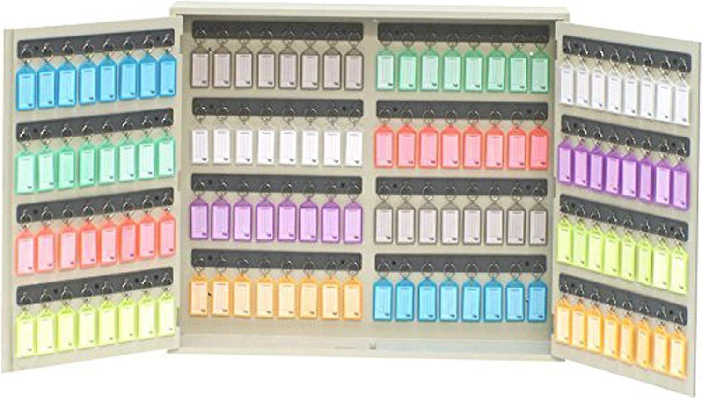 Color Beige Montaje en Pared Incluye 128 Llaveros y Etiquetas Acrimet Armario Organizador para 128 Llaves y Cerradura