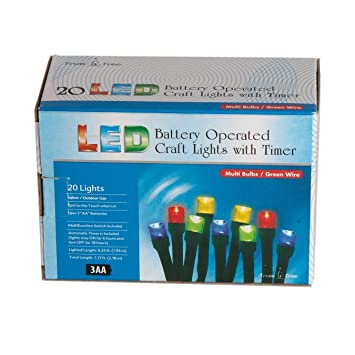 Outdoor Lighting Timer With Remote   Amazon.com : Battery Operated LED  Craft Indoor/Outdoor Lights With .